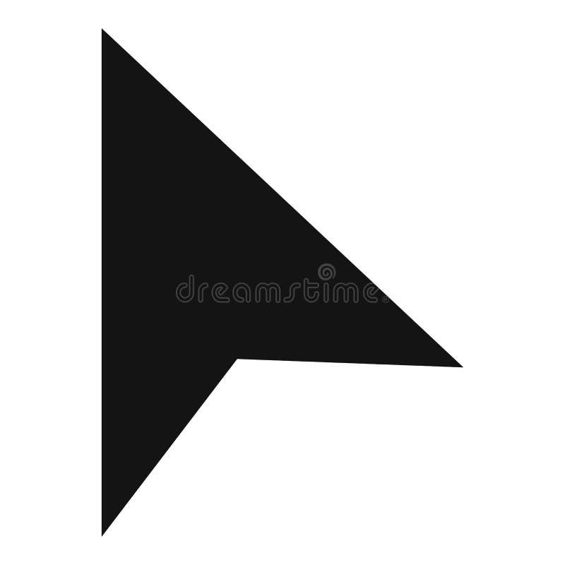 Kursoru elementu modna ikona, prosty czerń styl royalty ilustracja