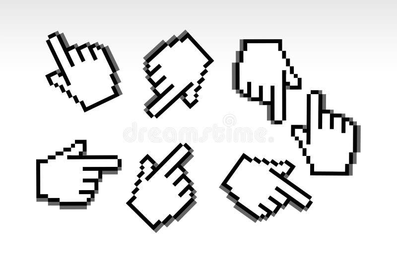 kursoru ręki pointer ilustracja wektor