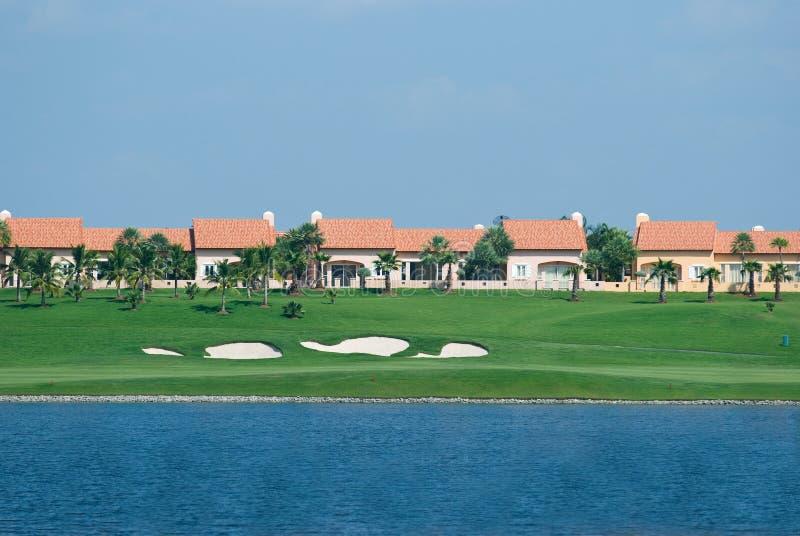 kursowi golfowi domy fotografia stock