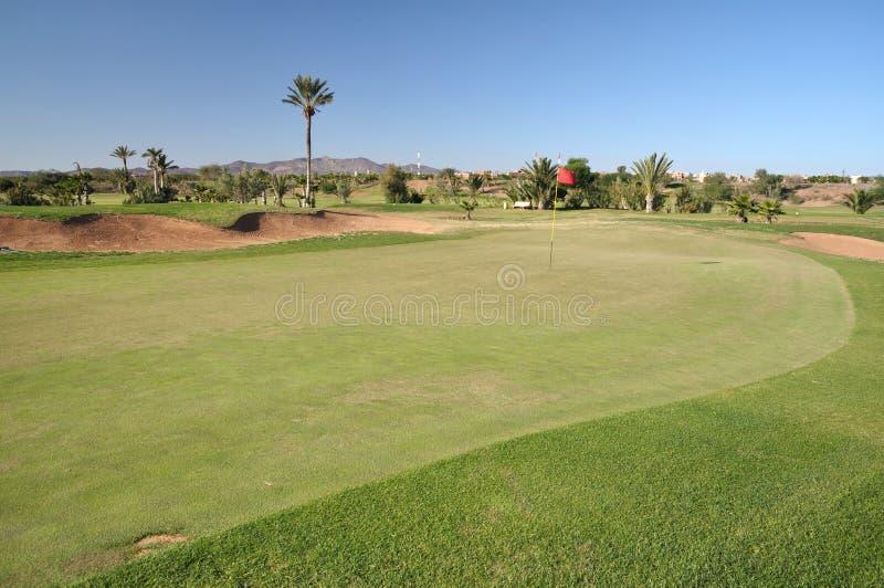 kursowy golfowy Marrakech fotografia royalty free