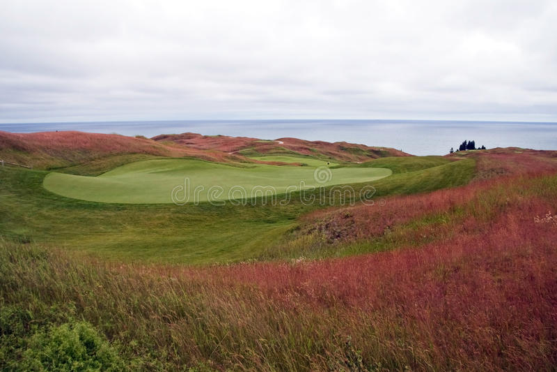 kursowy golfowy Michigan obraz royalty free