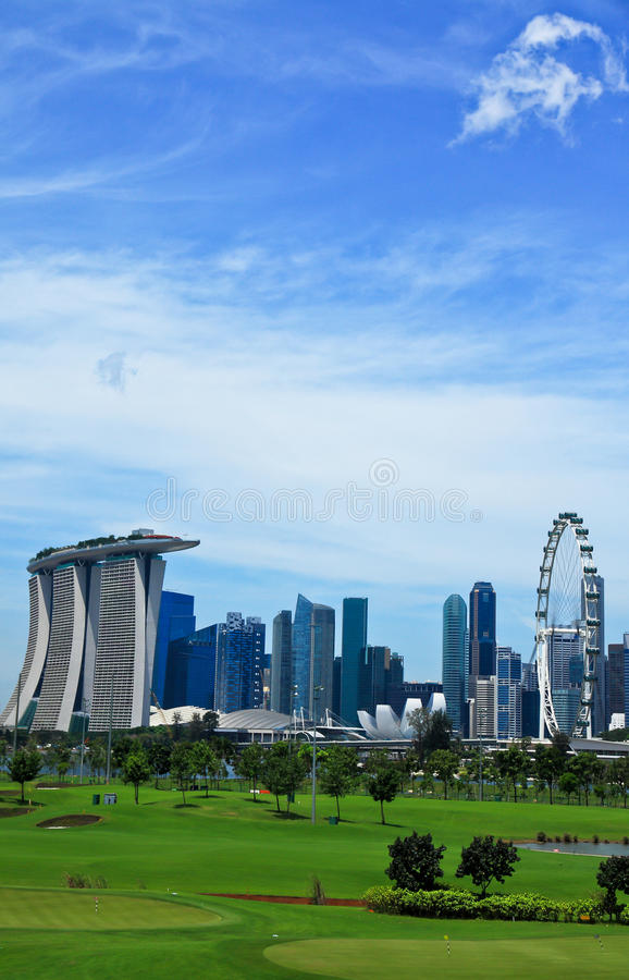 kursowy golfowy Singapore obraz stock