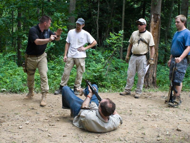 kursskjutvapenutbildning royaltyfri fotografi