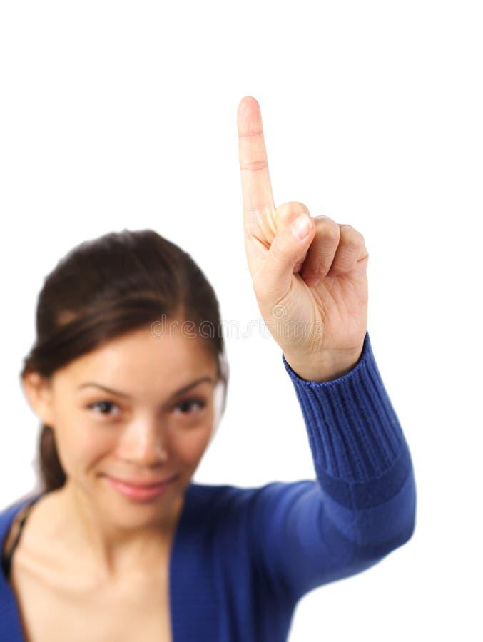 Kursteilnehmer - Hand oben! lizenzfreie stockfotos