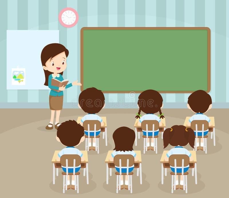 Kursteilnehmer im Klassenzimmer lizenzfreie abbildung