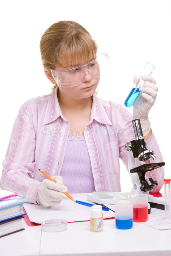 Kursteilnehmer im Labor lizenzfreies stockbild