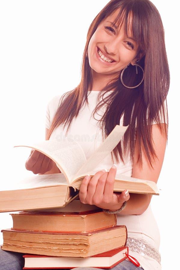 Kursteilnehmer mit Büchern lizenzfreie stockfotos