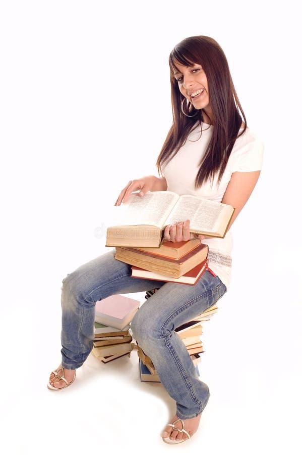 Kursteilnehmer mit Büchern stockfotos