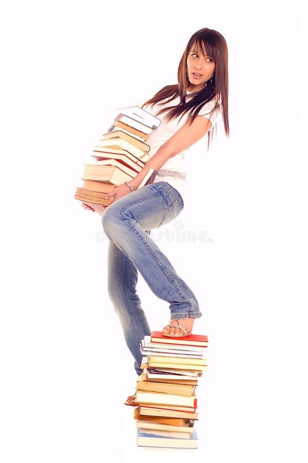 Kursteilnehmer mit Büchern stockbilder