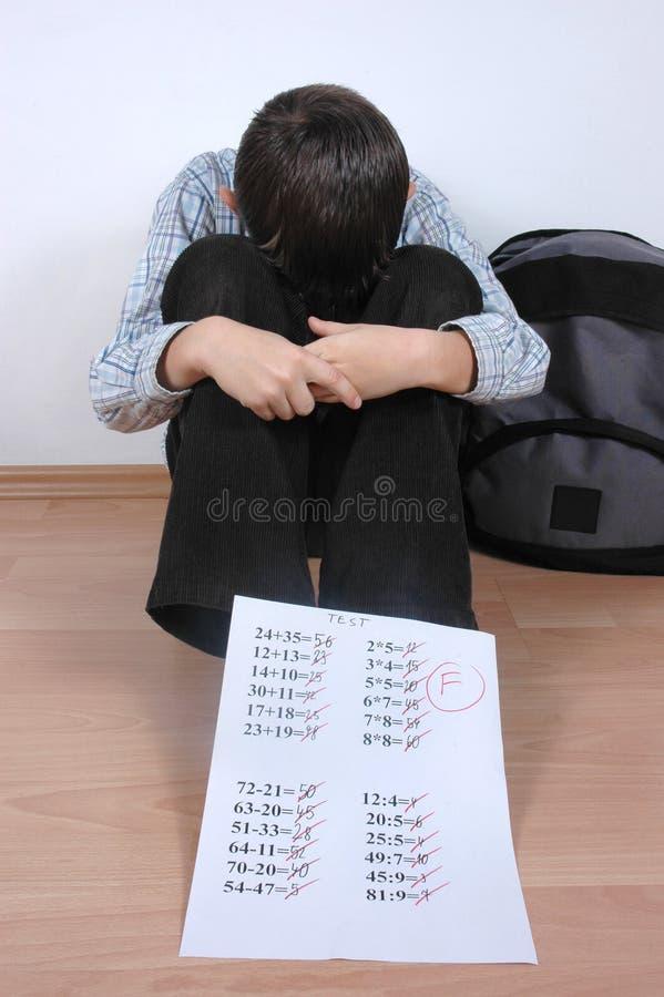 Kursteilnehmer mit f-Grad lizenzfreie stockbilder