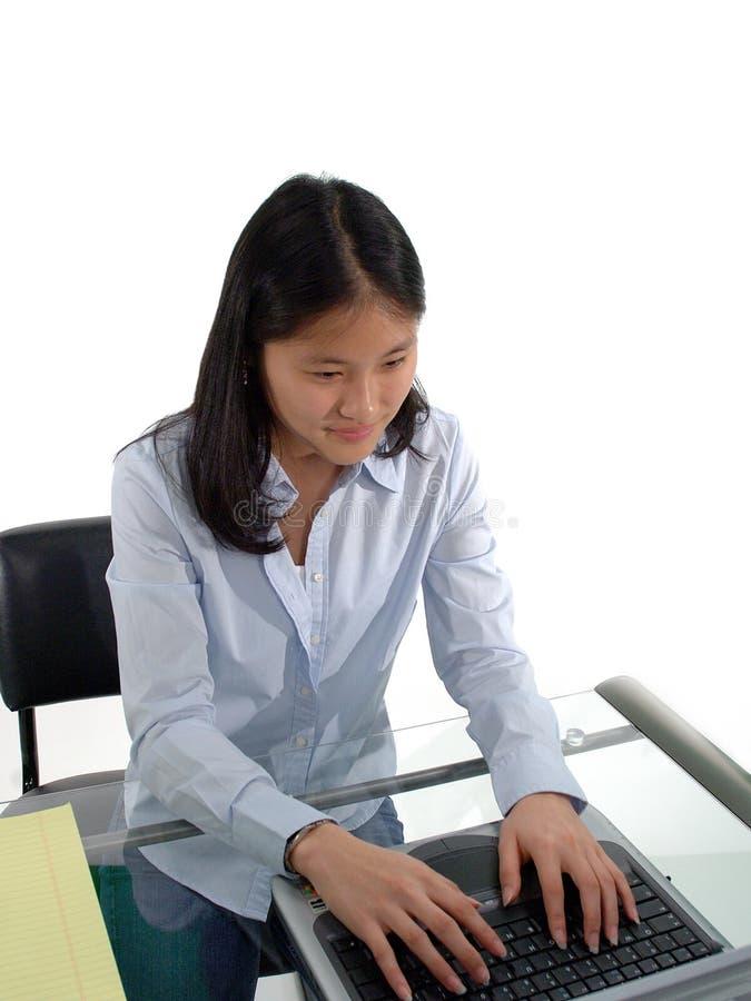 Kursteilnehmer-Schreiben stockfoto