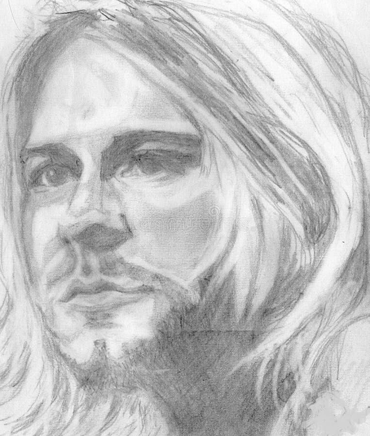 Kurt cobain. Pencil portrait of kurt cobain