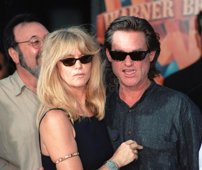 Kurt Russell, Goldie, Goldie Hawn lizenzfreies stockbild