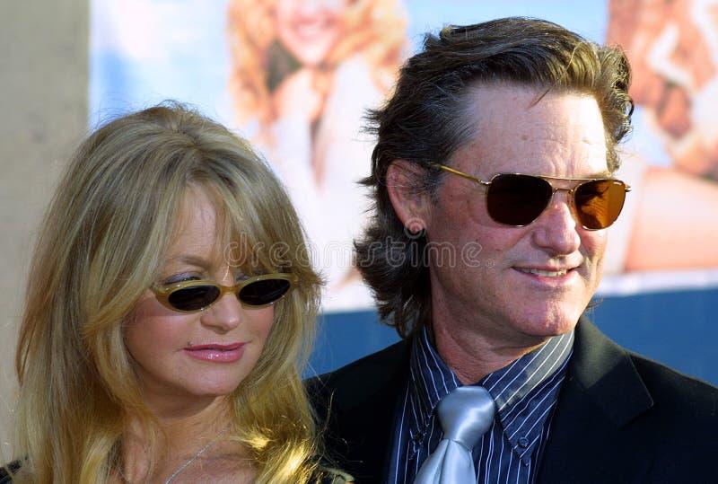 Kurt Russell und Goldie Hawn lizenzfreies stockfoto