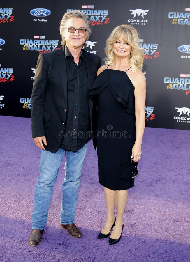 Kurt Russell und Goldie Hawn stockbild
