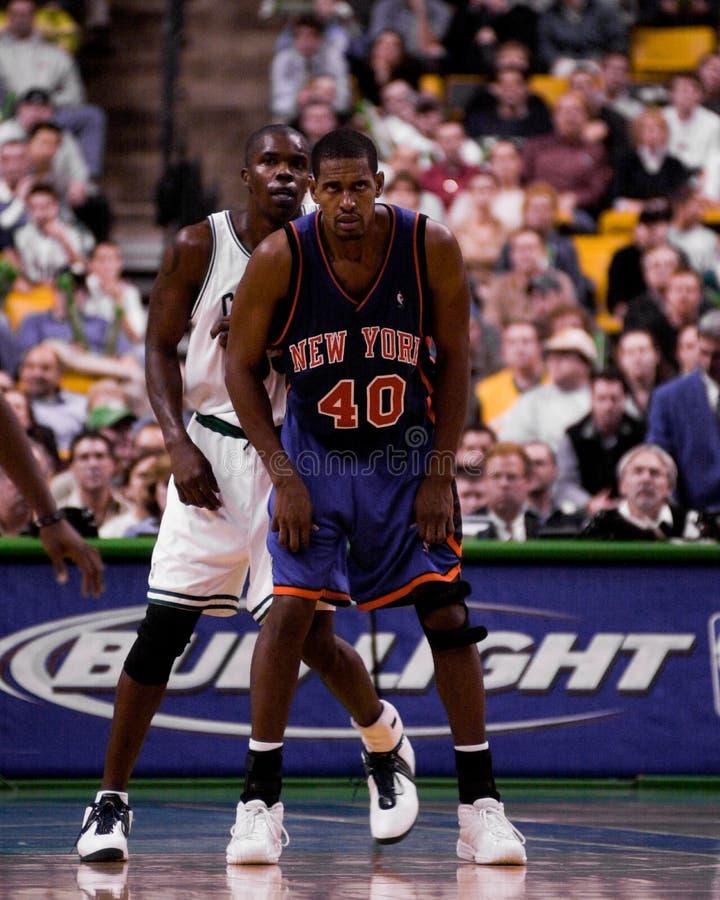 Kurt Thomas, i New York Knicks fotografia stock
