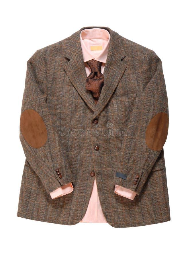 Download Kurtka, Koszula, Krawat Jest Na Biały Tle. Zdjęcie Stock - Obraz: 25891036
