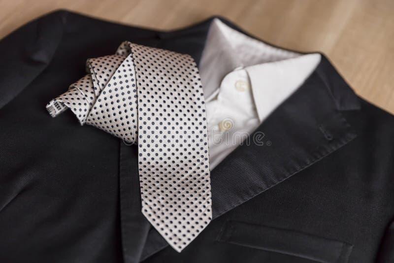 Kurtki i krawata szczeg?? zdjęcia royalty free