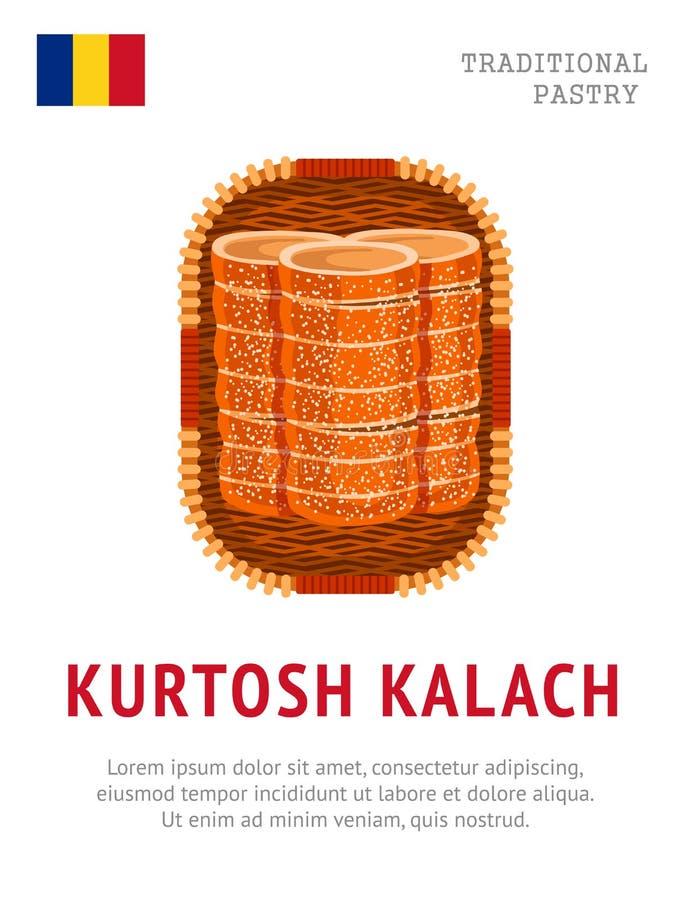Kurtosh Kalach 全国罗马尼亚盘 库存例证