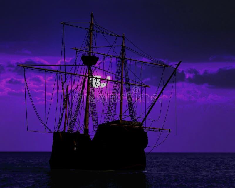 kurtyzaci pirata statek obraz stock