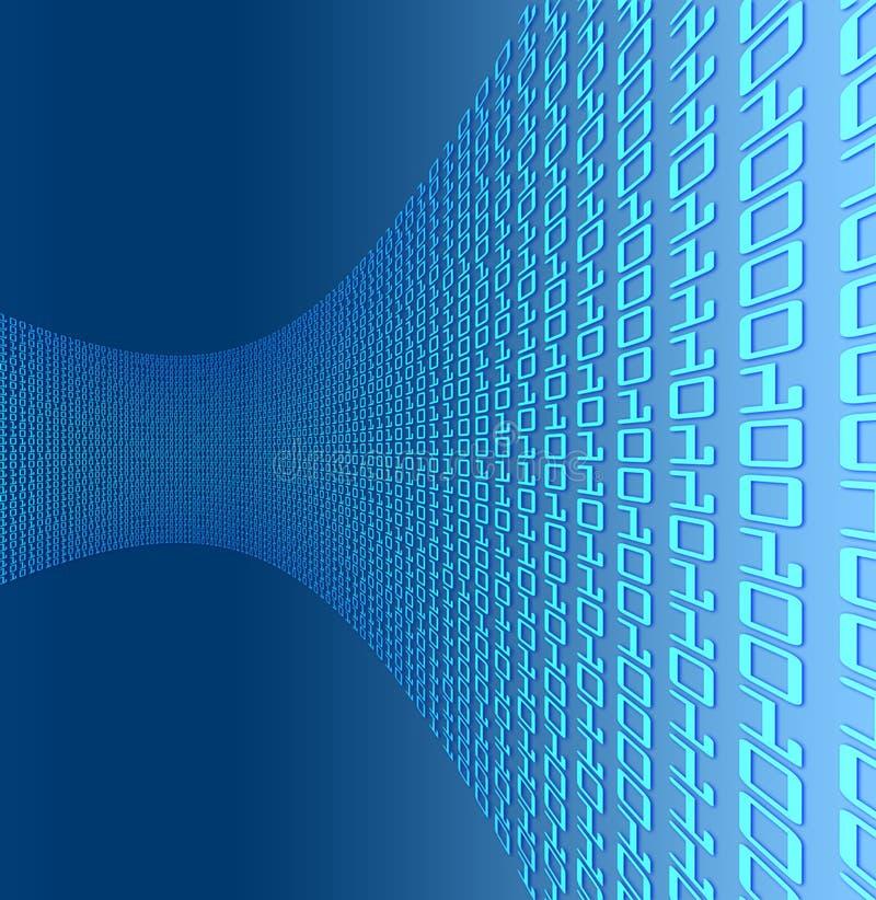 kurva för binär kod vektor illustrationer