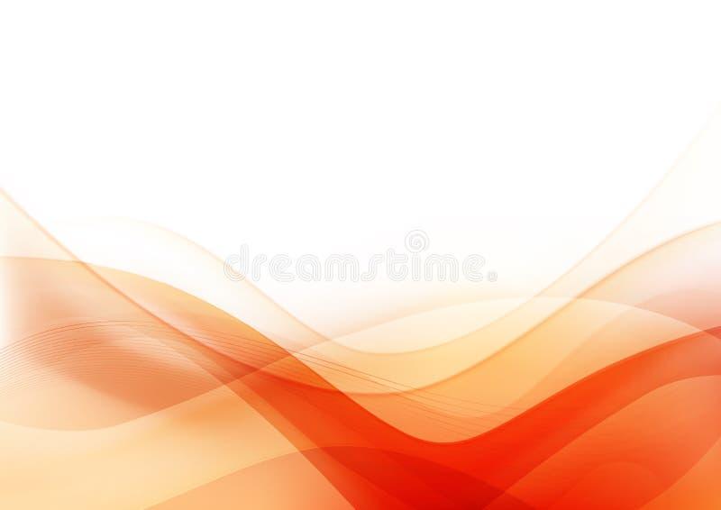 Kurve und hellorangeer abstrakter Hintergrund 003 der Mischung lizenzfreie abbildung