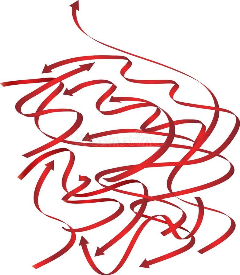 Kurven der roten Pfeile vektor abbildung