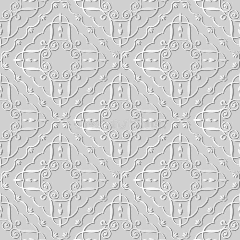 Kurven-gewundene Turbulenz-Kreuz-Feld-Rebe Kunst des Weißbuches 3D Kontroll lizenzfreie abbildung