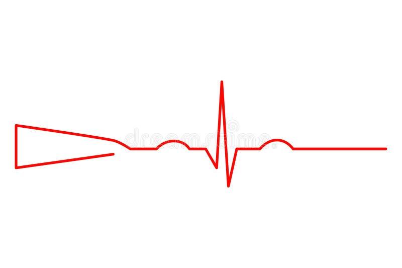 Kurven Schrotflinte und Elektrokardiogramm stock abbildung