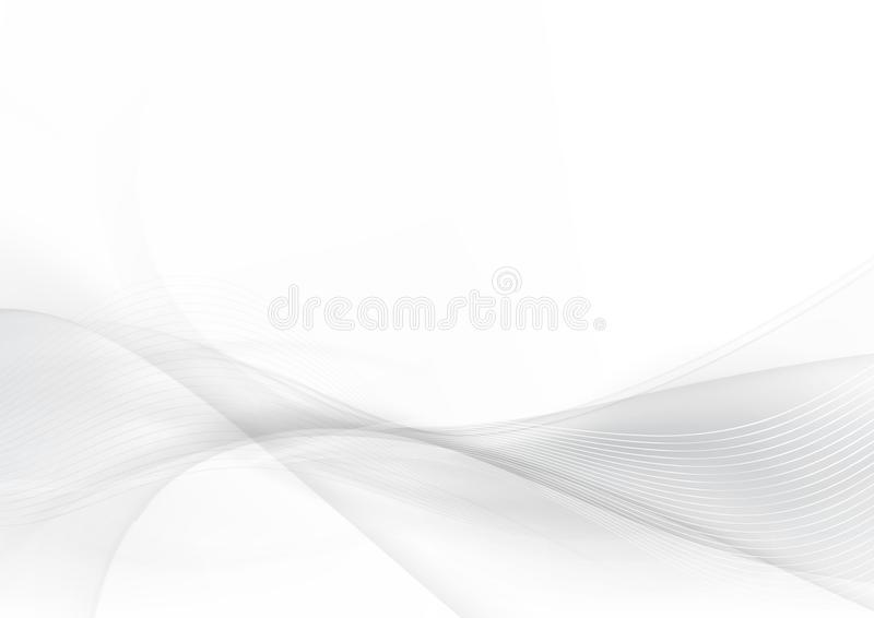 Kurven Sie und mischen Sie grauen und weißen abstrakten Hintergrund 004 vektor abbildung