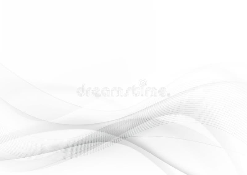 Kurven Sie und mischen Sie grauen und weißen abstrakten Hintergrund 001 lizenzfreie abbildung