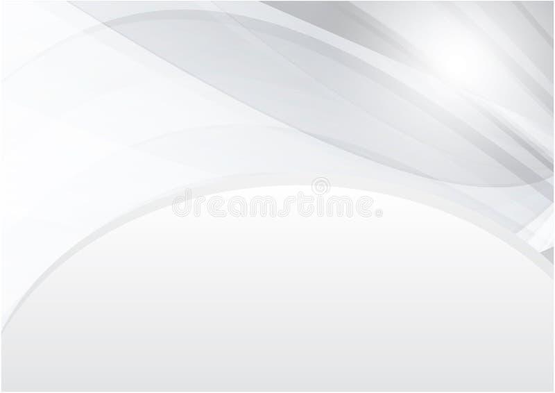Kurven Sie weißen und grauen Farbvektor-Zusammenfassungshintergrund mit Kopienraum für modernes Design vektor abbildung