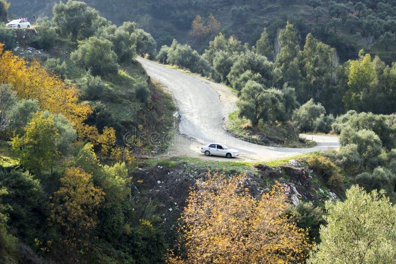 Kurvengebirgsstraße in der Türkei stockbild