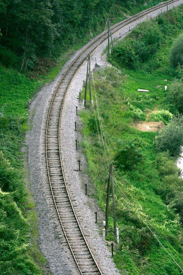 Download Kurvjärnväg arkivfoto. Bild av metall, färgglatt, ändring - 41506