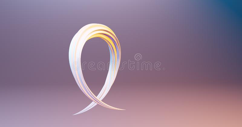 Kurvor och slaglängder 3d att framföra den moderna färgrika flödesaffischen för liqud vektor illustrationer