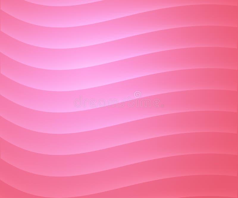 Kurvor på rosa färger royaltyfri illustrationer