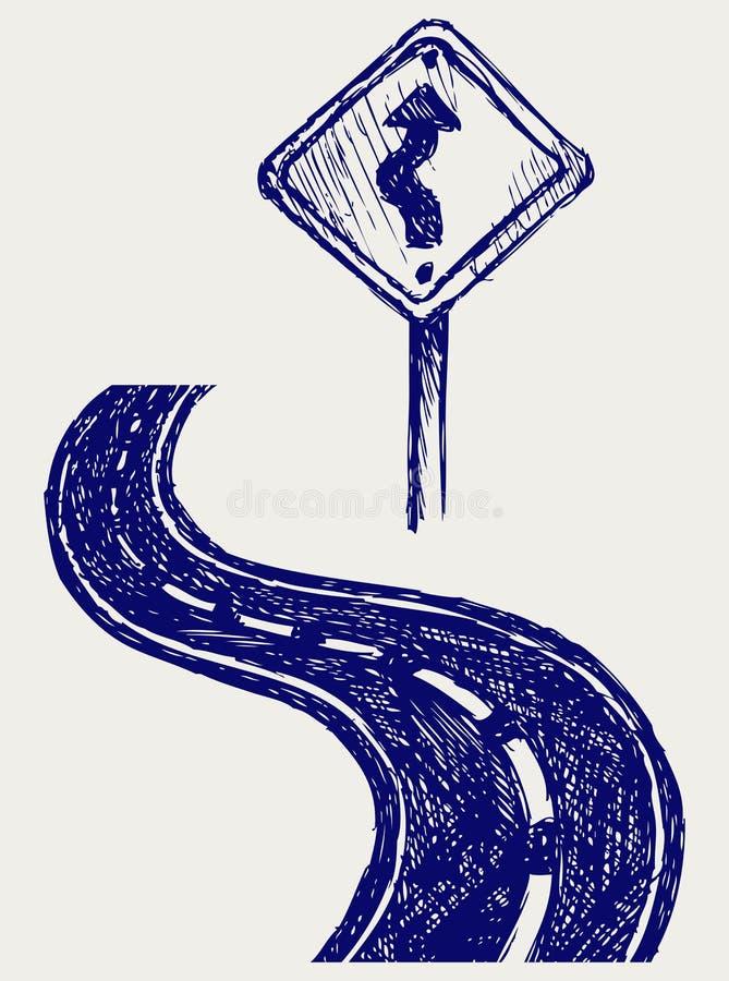Kurvväg royaltyfri illustrationer