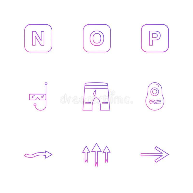 kurze Hosen, Swimmingpool, Alphabete, Meer, Lebensmittel, Picknick, summe lizenzfreie abbildung