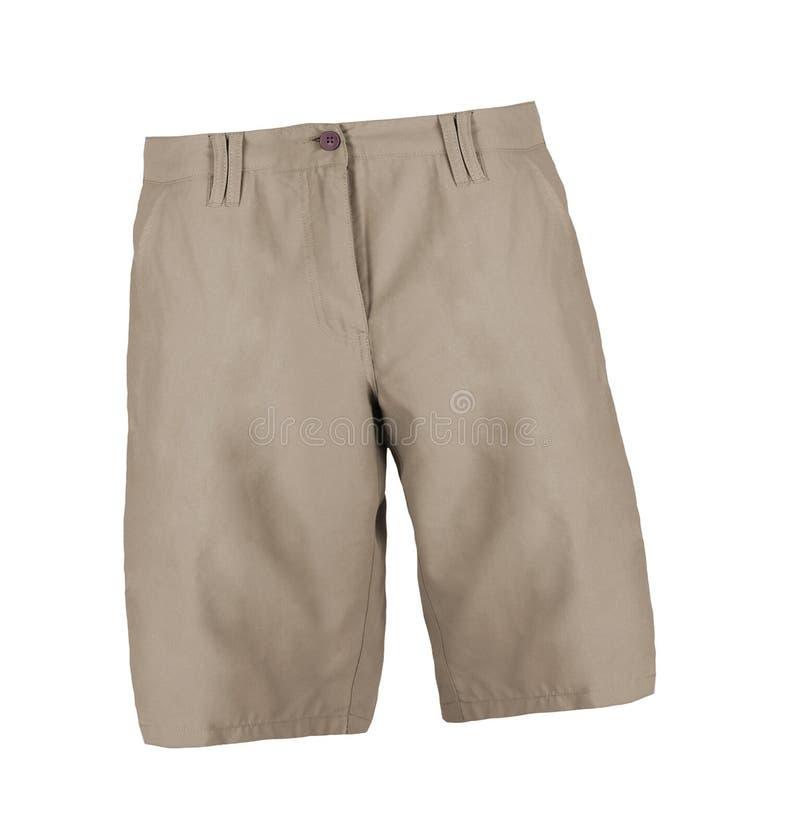Kurze Jeanshose lokalisiert auf dem Weiß lizenzfreie stockfotografie