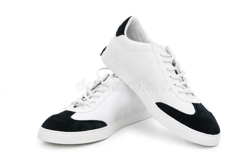 Kurze Schuhe getrennt auf dem Weiß lizenzfreie stockfotos