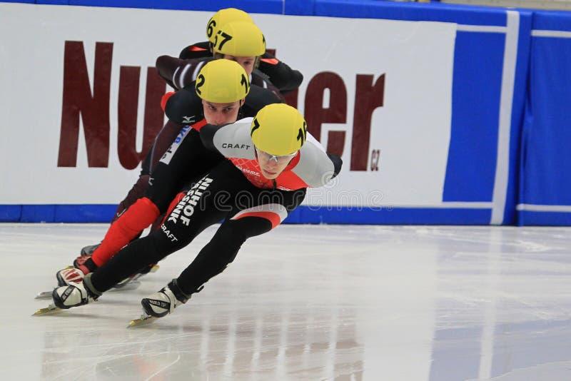 Kurze Spur - europäische Meisterschaft 2012 stockbilder