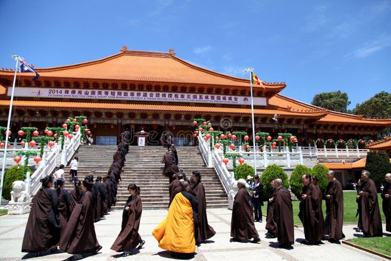Kurzfristiger klösterlicher Rückzug @ Nan Tien Temple stockbilder