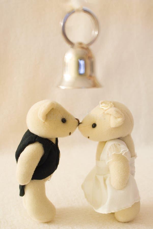 Kus de bruid stock foto