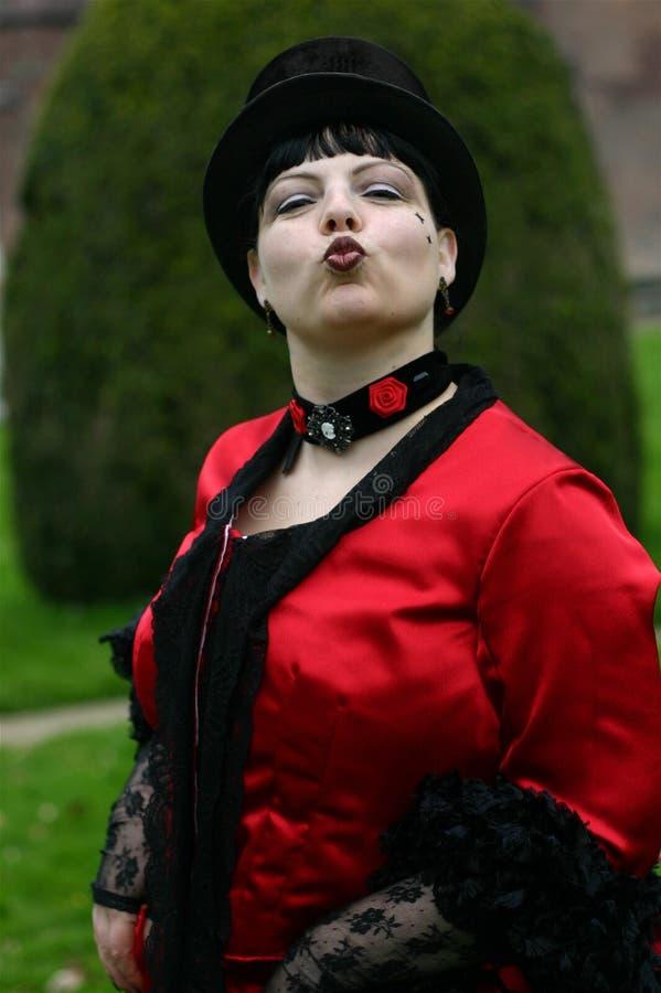 Kus van een dame! royalty-vrije stock afbeeldingen