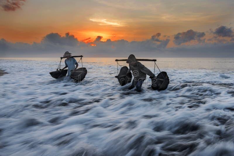 Download Kusamba Salt Farmer Collecting Sea Water Bali Editorial Stock Photo - Image of places, indonesia: 99417113