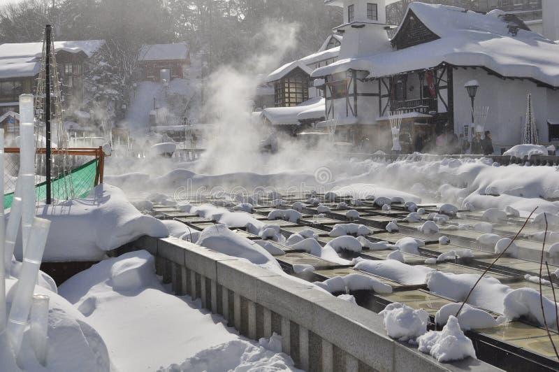 Kusatsu hot-spring japan royalty free stock photography