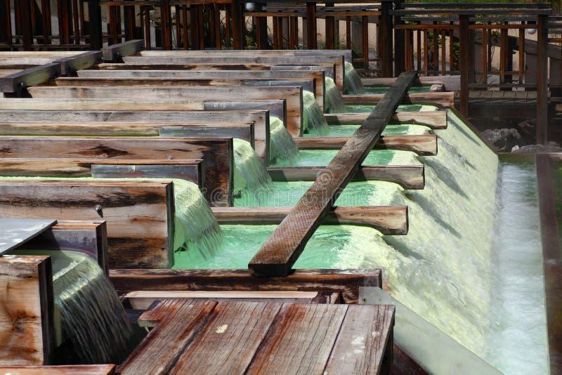 Kusatsu hot spring in Japan royalty free stock image