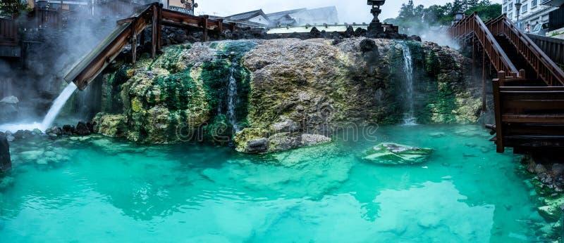 Kusatsu Hot Springs. Gunma Prefecture, Japan stock afbeeldingen