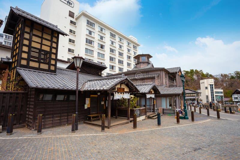 Kusatsu Onsen in Gunma, Japan royalty-vrije stock afbeelding