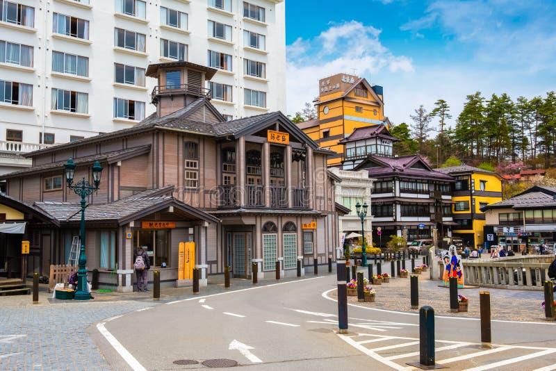 Kusatsu Onsen som mest berömd varm vår tillgriper i Gunma, Japan royaltyfri foto